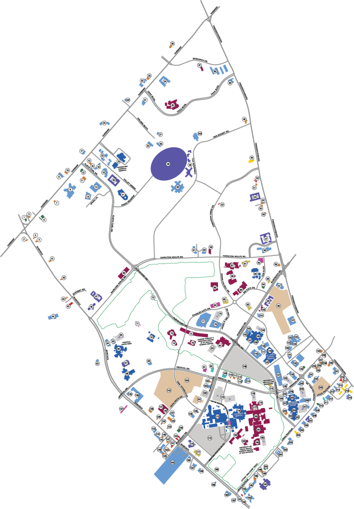 Map Of Texas Medical Center.Medical Foundation